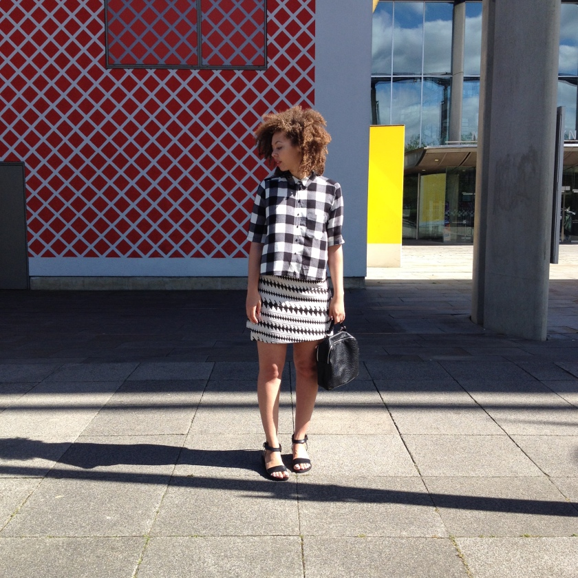 Shirt & Skirt by River Island | Sandals by Warehouse | Bag by Primark