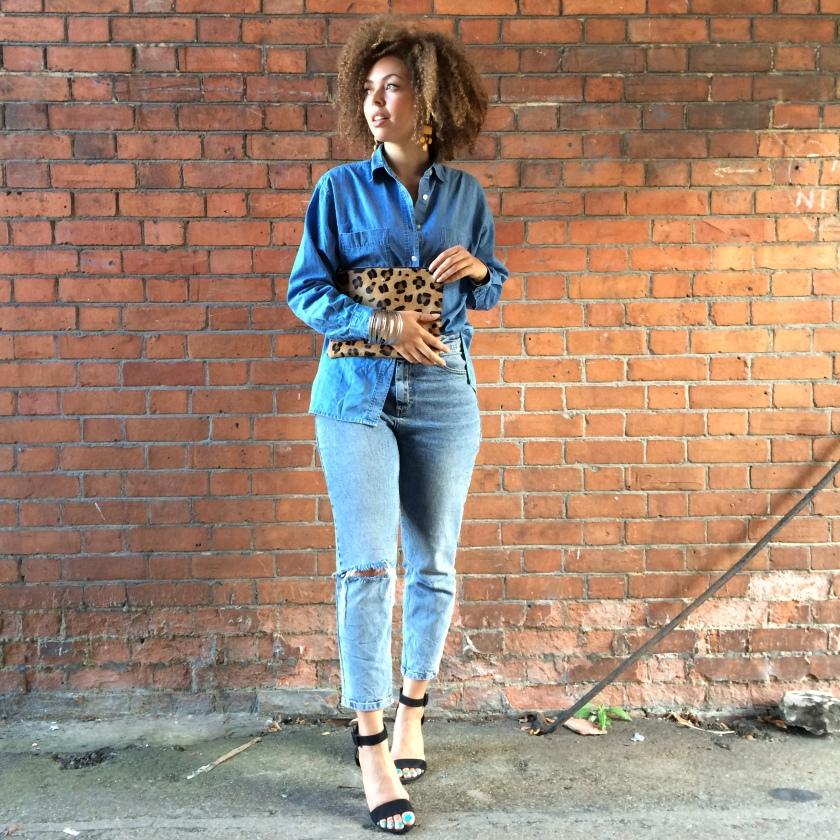 Shirt, Vintage| Jeans, Asos| Heels, Zara| Clutch, Next| Earrings, H&M| Cuff, Topshop